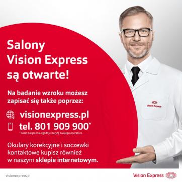 Salony Vision Express pozostają otwarte!