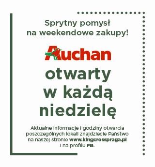 W niedzielę, 17 października, hipermarket Auchan zaprasza na zakupy